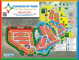 St Augustine Florida Map by Compass Rv Park Site Map