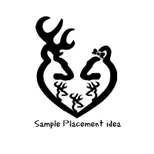 hunting truck decals svg deer family dxf deer decal truck decal decal design