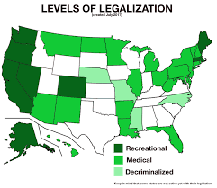 Medical Marijuana Legal States Map by Highest Level Of Marijuana Legalization For Each State Oc