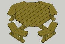 Free Octagon Picnic Table Plans And Drawings by Patio Building Plans U0026 Blueprints Ebay