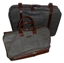 leather travel bags images Polo ralph lauren pc luggage brown plaid leather canvas weekend jpg
