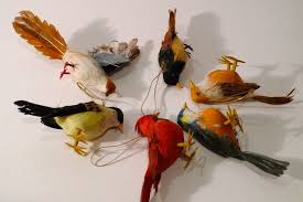 amazing design bird tree ornaments feather birds vintage