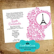 eiffel tower invitations free shipping on all orders fast teal floral eiffel tower