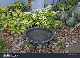 water features detail small courtyard garden water features stock photo 540017809