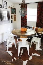 Modern Dining Table 2014 Our Rustic Modern Dining Room Thewhitebuffalostylingco Com
