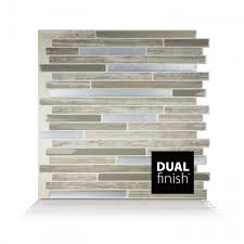 Wall Tiles by Peel And Stick Wall Tiles Capri Taupe Dual Finish Smart Tiles