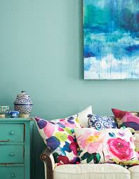 bright colour interior design ooh pretty watercolor print pillows beautiful ideas to bring