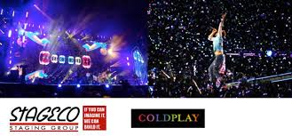 coldplay what if coldplay hits the road with stageco staging group live production tv