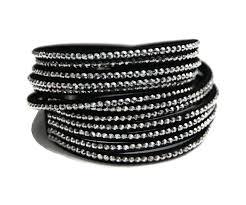 black leather wrap bracelet images Black silver wrap bracelet faux leather wrap bracelets uk jpg