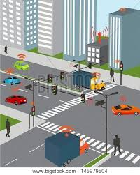 do traffic lights have sensors communication that connects cars vector photo bigstock