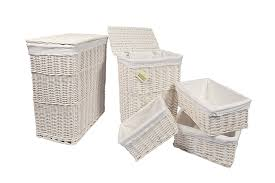 Laundry Hamper Australia by Woodluv Large Rectangular Laundry Linen Wicker Basket With Hinged