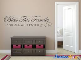Quotes For Home Decor by Bless This Home And All Who Enter Wall Quote Vinyl Decal Graphic