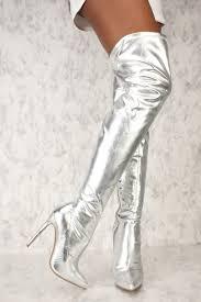 silver boots cheap silver boots silver boots thigh high