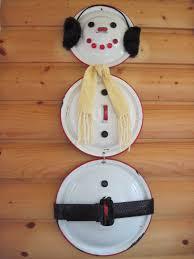 snowman from enamelware lids inspired by pinterest pinterest