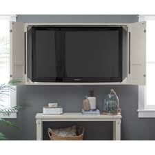tv wall cabinet belham living nantucket shutter front tv wall cabinet hayneedle