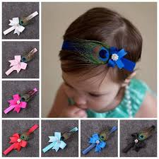 toddler hair bows baby ribbon hair bows indian style feather decorations headbands