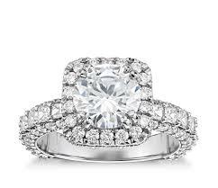 cushion ring vaughan for blue nile grandeur cushion halo diamond