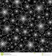 imagenes blancas en fondo negro flores blancas en un fondo negro stock de ilustración ilustración