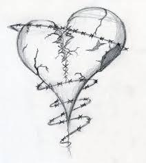 drawn idea heart pencil and in color drawn idea heart
