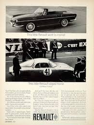 renault dauphine convertible 1963 ad 1964 renault dauphine 2 door convertible le mans race car