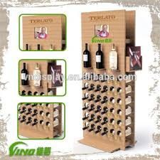 mdf wooden display racks for champagne wine bubbly cutomized logo
