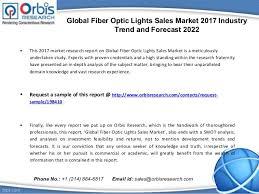 2017 global fiber optic lights sales market analysis 2022 forecast
