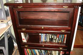 Mahogany Bookshelves by Hand Crafted Glass Door Traditional Style Bookshelf Mahogany