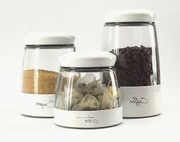kitchen storage canisters kitchen best glass and white metal framed coffee tea and sugar