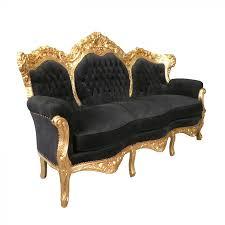 canapé baroque canapé baroque noir et doré meuble baroque