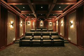 interior design stunning home movie theater design with arm chair