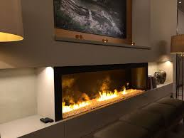 Ethanol Fire Pit by Black And Stainless Steel Fireplace Gas Logs For Moda Flame