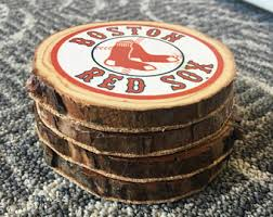 Boston Red Sox Home Decor Red Sox Coasters Etsy