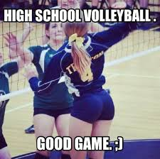 Volleyball Meme - the real reason for hs volleyball know your meme