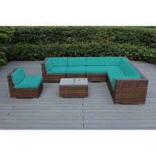 Outdoor Patio Furniture Sectionals Ohana 8 Piece Outdoor Wicker Patio Furniture Sectional