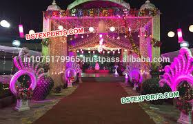 fiber decoration indian wedding decorations peacock style wedding