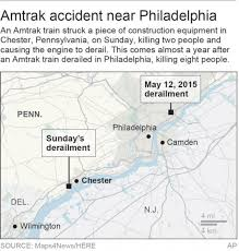 Pennsylvania On Map by Amtrak Train Crash Videos At Abc News Video Archive At Abcnews Com