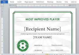 word certificate template sports certificate template for ms word