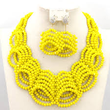 african beads necklace images Handmade african beads jewelry set bridal jewelry sets nigerian jpg