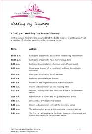 wedding itinerary template for guests wedding itinerary template template business