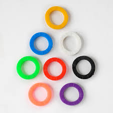 color key rings images Oppohere mixed color 8pcs 16pcs hollow multi color rubber soft key jpg