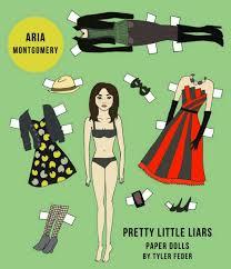 pretty little liars aria paper doll paper thin personas