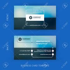 Flat Design Business Card Vector Modern Creative And Clean Business Card Template Flat