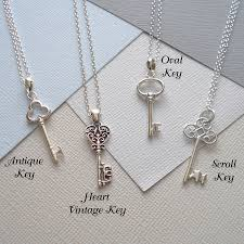 vintage key necklace images Sterling silver key necklace by mia belle jpg