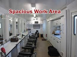 professional makeup station 8 station slide out hair and makeup trailers lightnin production