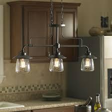 Bronze Kitchen Lighting Allen Roth Bristow 36 In W 3 Light Mission Bronze Kitchen Island