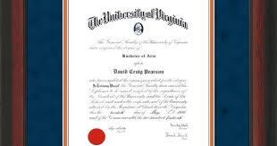 uva diploma frame u of virginia diploma frame rosewood w medallion navy orange