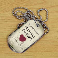 in loving memory dog tags custom memorial dog tag necklace personalized with name and dates