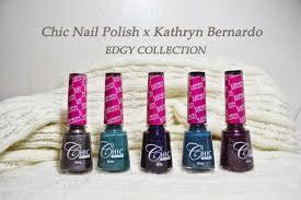 chic nail polish x kathryn bernardo collaboration edgy