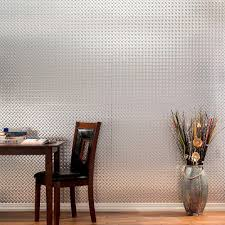 Decorative Glass Wall Panels Fasade Diamond Plate 96 In X 48 In Smoked Pewter Vinyl