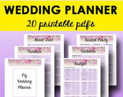 downloadable wedding planner editable wedding planner printable wedding planning